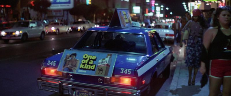 Camel Cigarettes Taxi Advertising Sign in Time After Time (1979) Movie Product Placement