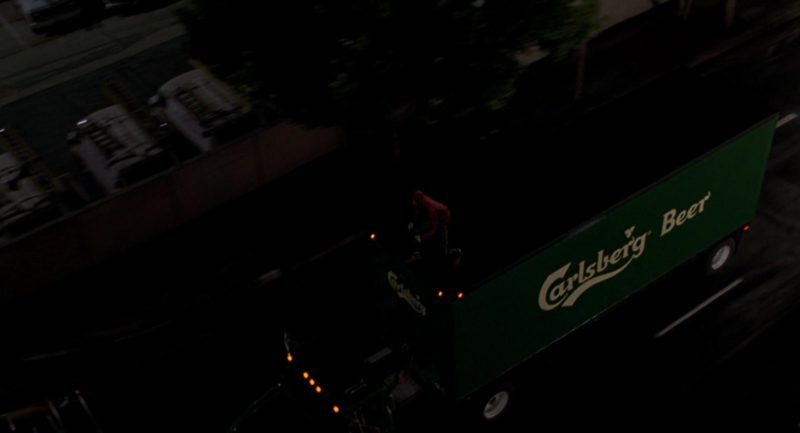 Carlsberg Beer Truck in Spider-Man (2002) - Movie Product Placement