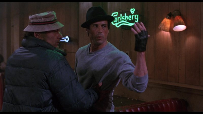 Carlsberg Beer Sign in Rocky 5 (1990) - Movie Product Placement