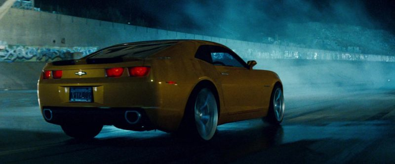 Chevrolet Camaro Yellow Car in Transformers (2007) - Movie Product Placement