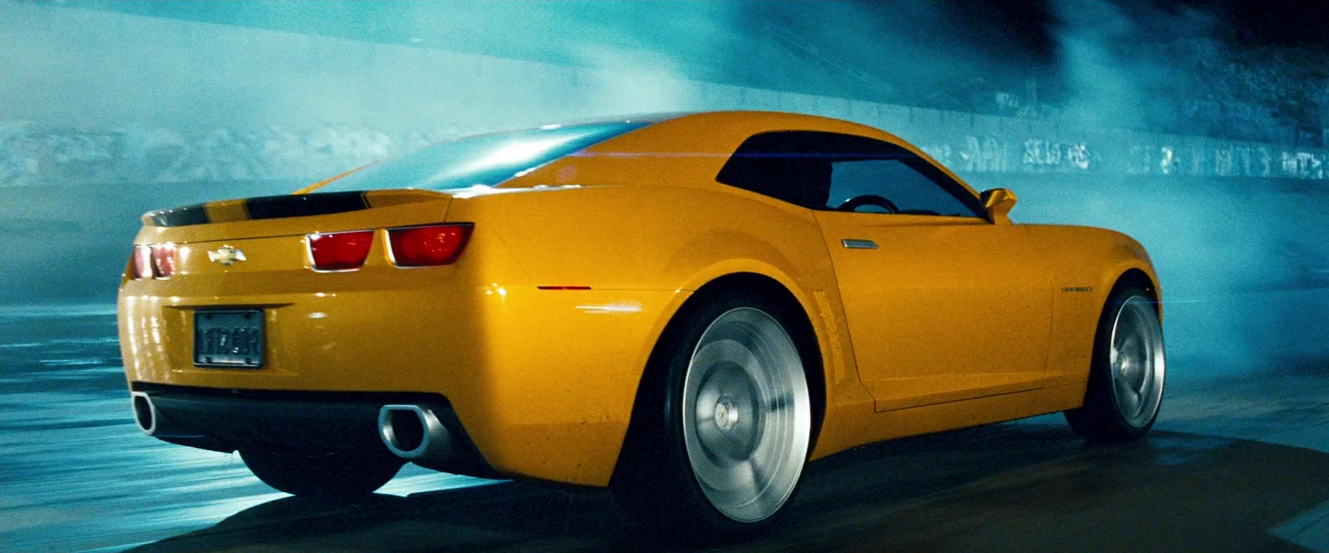 Chevrolet Camaro Yellow Car In Transformers 2007 Movie
