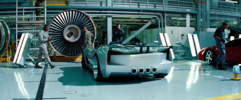 Chevrolet Corvette Stingray Speedster Concept in Transformers: Dark of the Moon (2011) Movie Product Placement