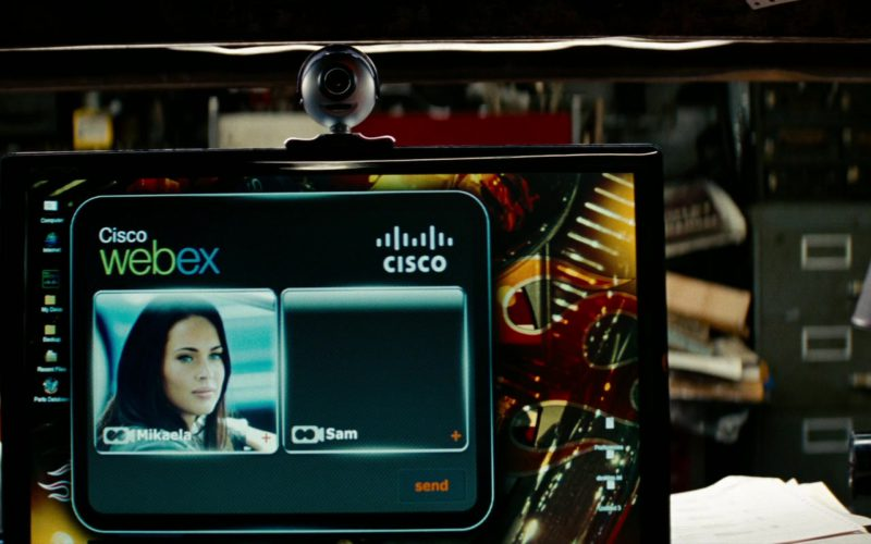 Cisco Webex Used by Megan Fox in Transformers (2)