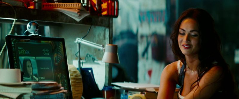 Cisco Webex Used by Megan Fox in Transformers: Revenge of the Fallen (2009) - Movie Product Placement