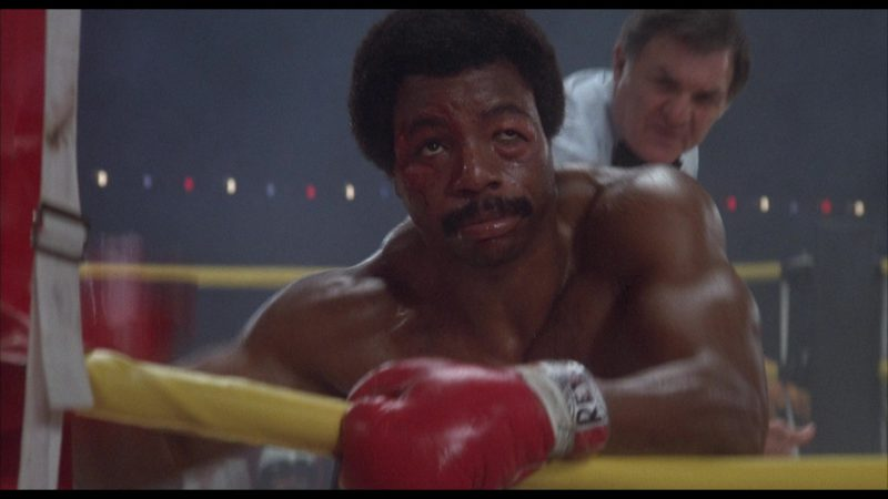 Cleto Reyes Boxing Gloves Worn by Carl Weathers (Apollo Creed) in Rocky 2 (1979) - Movie Product Placement