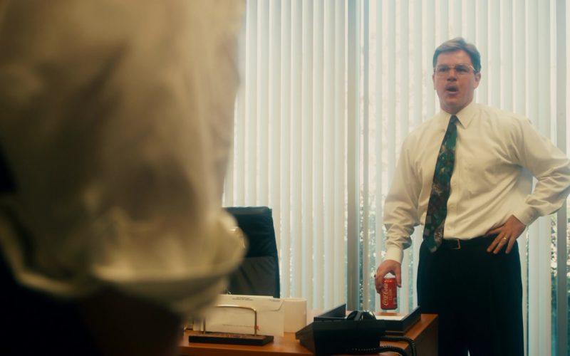 Coca-Cola Can Held by Matt Damon in The Informant!