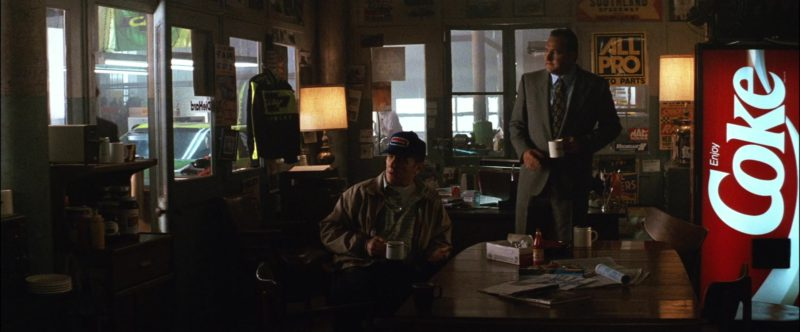 Coca-Cola Vending Machine in Days of Thunder (1990) Movie Product Placement