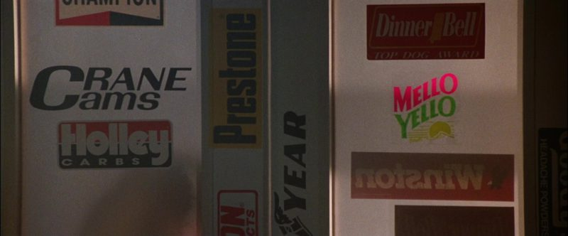 Crane Cams, Holley Performance Products, Prestone, Goodyear, Mello Yello, Winston in Days of Thunder (1990) Movie Product Placement