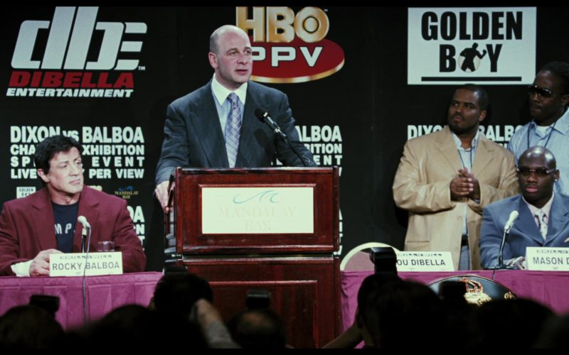 DBE Dibella Entertainment, HBO PPV, Golden Boy Promotions in Rocky Balboa (1)