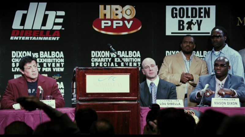 DBE Dibella Entertainment, HBO PPV, Golden Boy Promotions in Rocky Balboa (2006) - Movie Product Placement