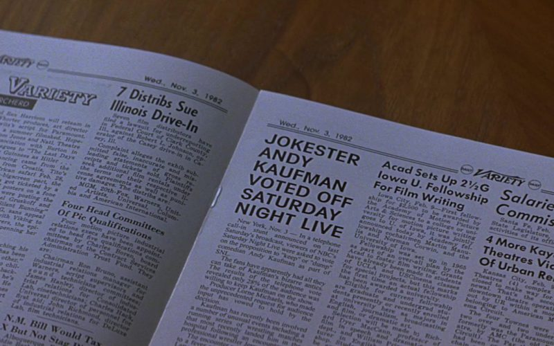 Daily Variety Newspaper in Man on the Moon