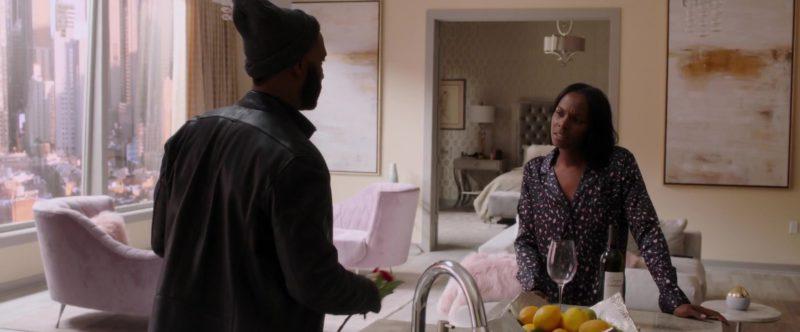 Darjean Jones Pathologie Proprietary Red Wine Bottle Held by Tika Sumpter in Nobody's Fool (2018) - Movie Product Placement
