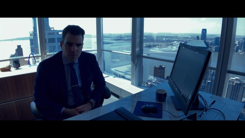 Dell Computer Monitor Used by Zachary Quinto in High Flying Bird (2019) Movie Product Placement
