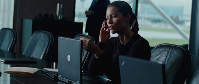 Dell Laptop Used by Jessica Biel in The A-Team (2010) Movie Product Placement