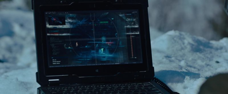 Dell Microsoft Windows Laptop in The Girl in the Spider's Web (2018) Movie Product Placement