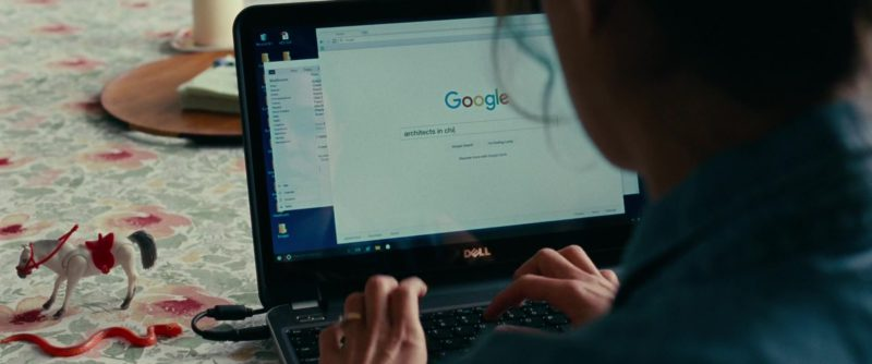 Dell Notebook and Google Search Engine in Widows (2018) - Movie Product Placement