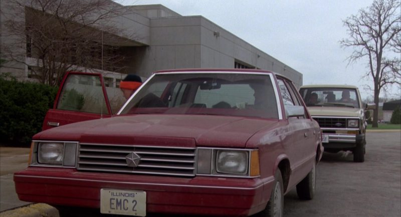 Dodge Aries K Car in The Breakfast Club (1985) - Movie Product Placement