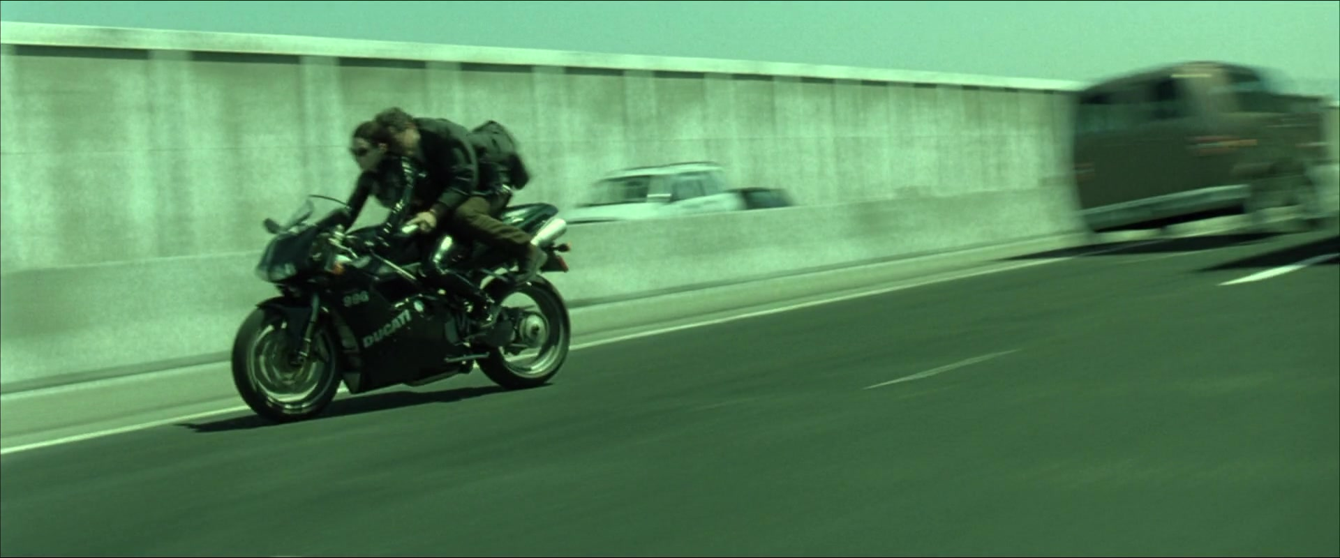 Ducati 996 Motorcycle In The Matrix Reloaded 2003 Movie