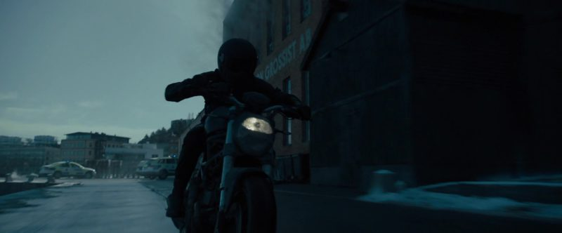 Ducati Motorcycle Used by Claire Foy in The Girl in the Spider's Web (2018) Movie Product Placement