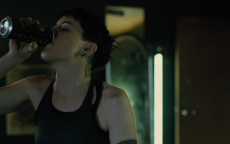 Falcon Beer Drunk by Claire Foy in The Girl in the Spider's Web