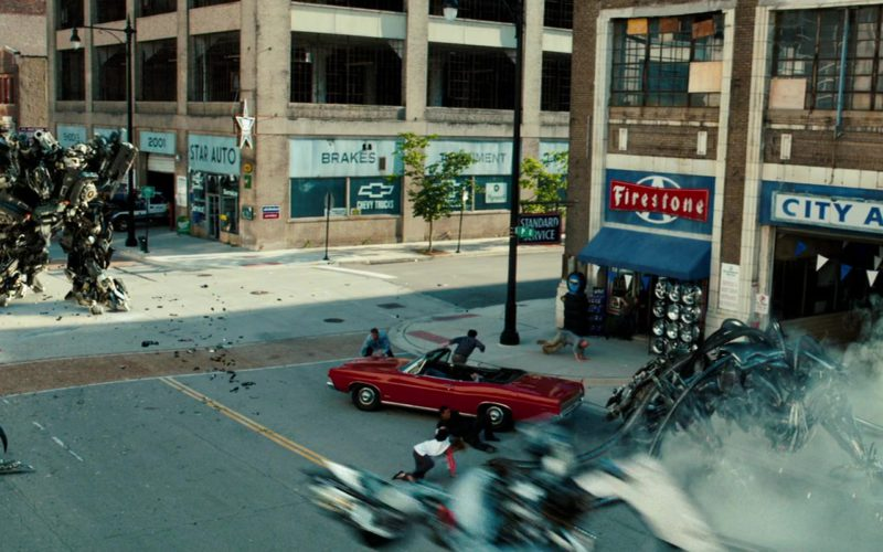Firestone Tire and Rubber Company Sign in Transformers