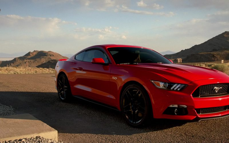 Ford Mustang Red Car Driven by Imogen Poots in Need for Speed (1)