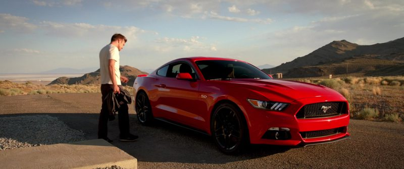 Ford Mustang Red Car Driven by Imogen Poots in Need for Speed (2014) Movie Product Placement