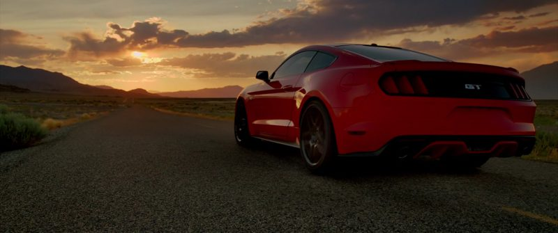 Ford Mustang Red Car Driven by Imogen Poots in Need for Speed (2014) - Movie Product Placement