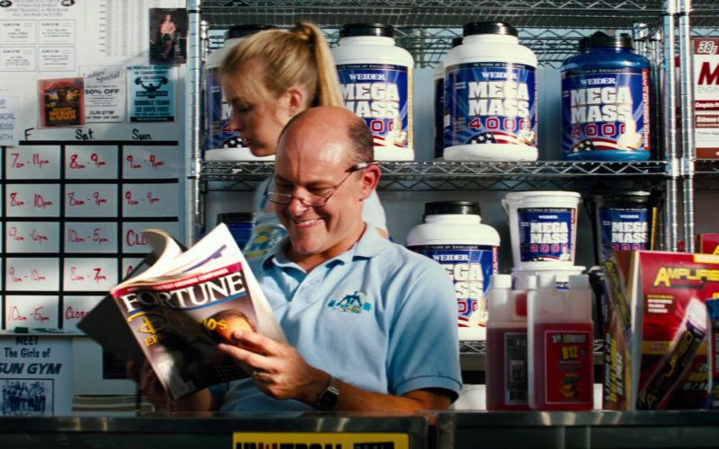 Fortune Magazine Held by Rob Corddry, Weider MEGA MASS, MET-Rx in Pain & Gain (1)