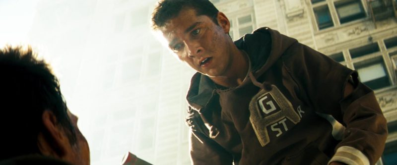 G-Star RAW Hoodie Worn by Shia LaBeouf in Transformers (2007) - Movie Product Placement
