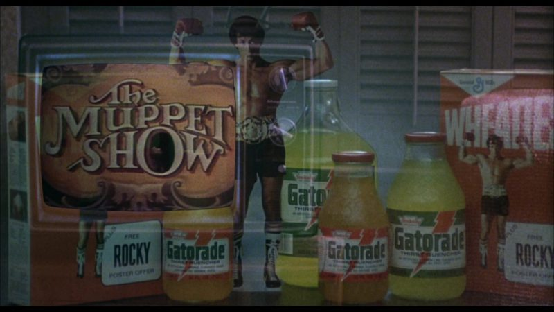 Gatorade Drinks and The Muppet Show in Rocky 3 (1982) Movie Product Placement