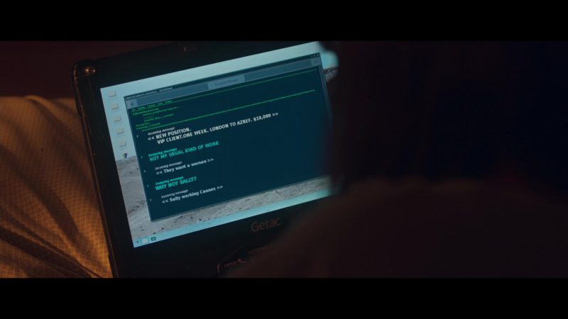 Getac Laptop / Tablet Used by Noomi Rapace in Close (2019) Movie Product Placement