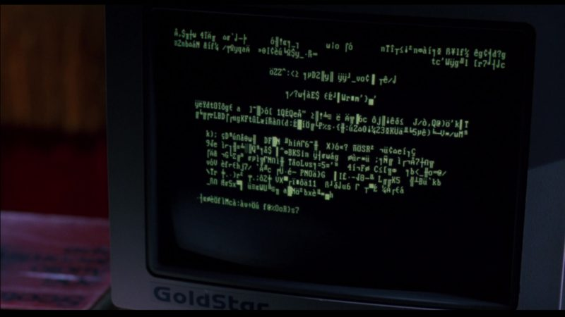 GoldStar Computer Monitor in Sneakers (1992) Movie Product Placement