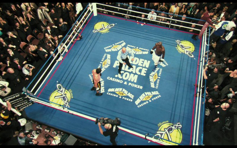 GoldenPalace.com Online Casino & Poker Boxing Ring and Socko Energy Drink Logos in Rocky Balboa (1)