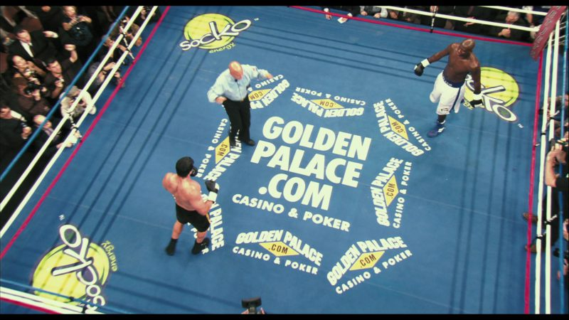 GoldenPalace.com Online Casino & Poker Boxing Ring and Socko Energy Drink Logos in Rocky Balboa (2006) Movie Product Placement
