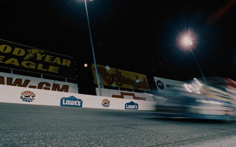 Goodyear Eagle, Lowe's, Bojangles' in Talladega Nights The Ballad of Ricky Bobby