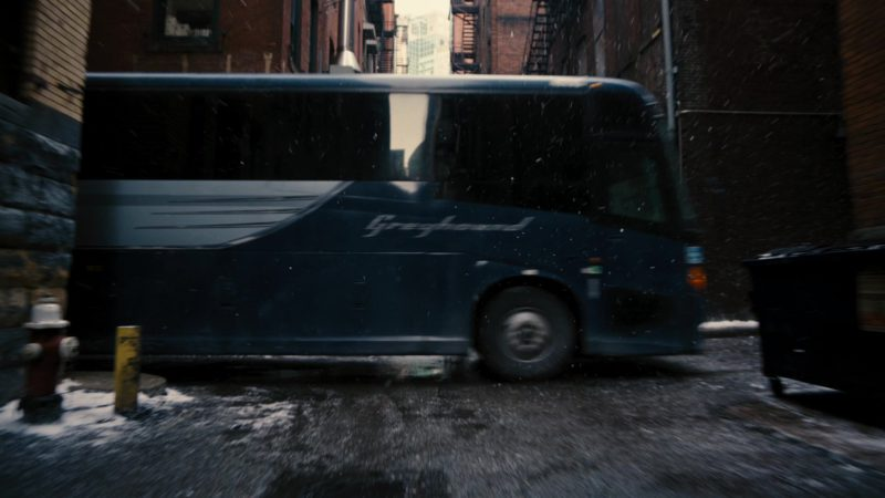 Greyhound Bus in The Dark Knight Rises (2012) Movie Product Placement