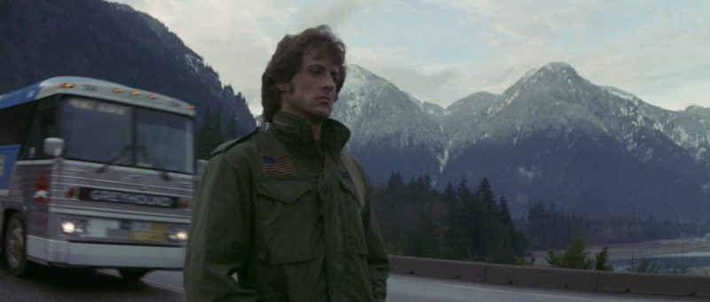Greyhound Lines Bus in Rambo: First Blood (1982) Movie Product Placement