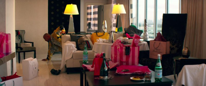 Gucci Bags, Agent Provocateur and Victoria's Secret Paper Bags, S.Pellegrino Water Bottles in Pain & Gain (2013) Movie Product Placement