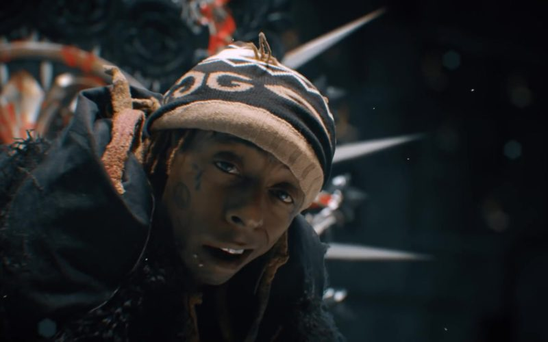 Gucci Mirrored GG Beanie Worn by Lil Wayne in Don't Cry ft. XXXTentacion (13)