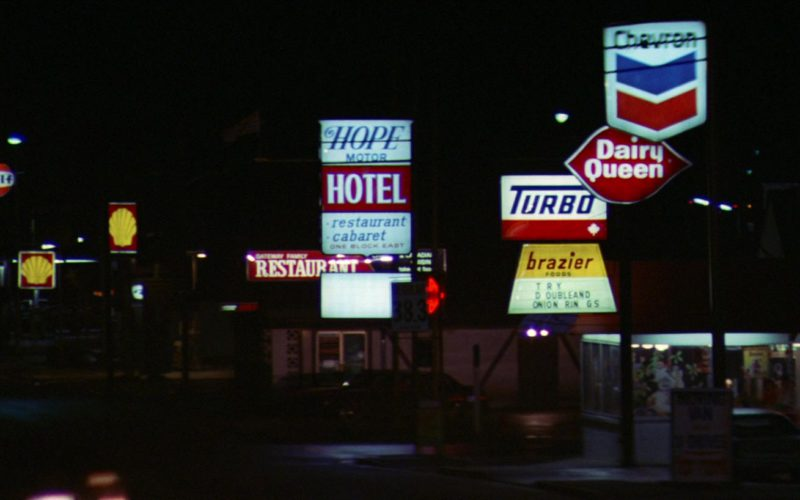 Gulf, Shell, Dairy Queen, Chevron in Rambo First Blood