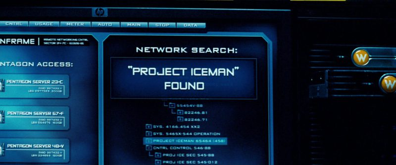 HP Monitors in Transformers (2007) Movie Product Placement