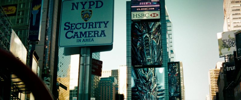HSBC Bank Billboard in Transformers: Revenge of the Fallen (2009) - Movie Product Placement