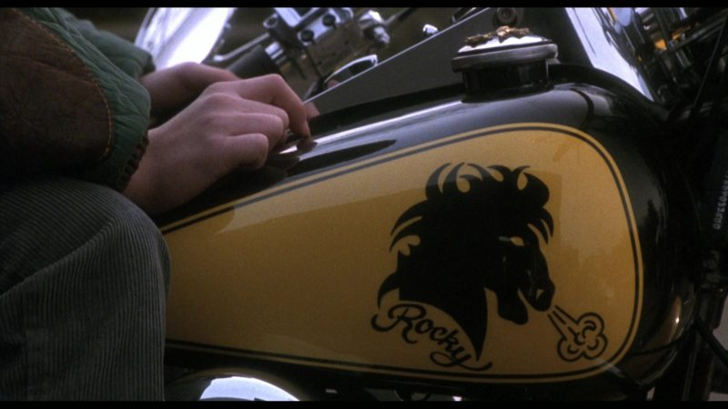 Harley-Davidson Heritage Softail Classic Motorcycle in Rocky 5 (1990) Movie Product Placement