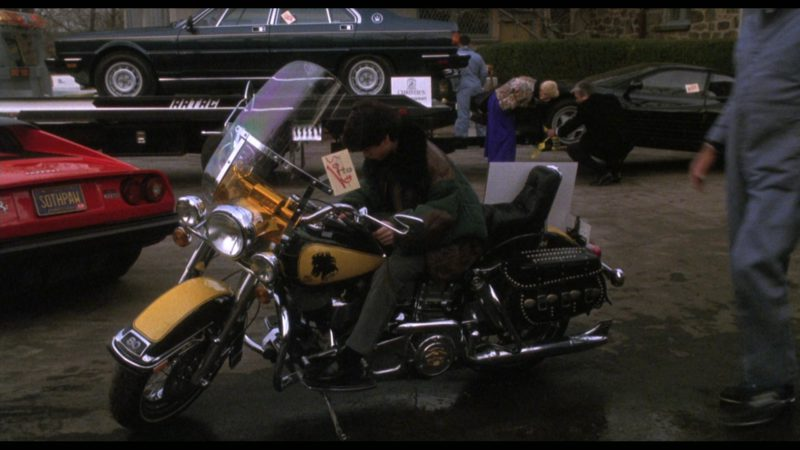 Harley-Davidson Heritage Softail Classic Motorcycle in Rocky 5 (1990) - Movie Product Placement