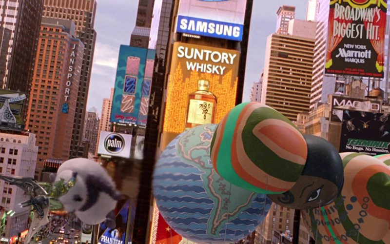 Hershey's Kisses, Jansport, Palm, Samsung, Suntory Whisky, Marriott, Terminix in Spider-Man (1)
