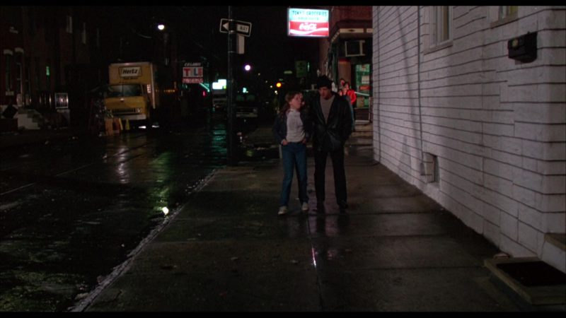 Hertz Truck and Coca-Cola Sign in Rocky (1976) - Movie Product Placement