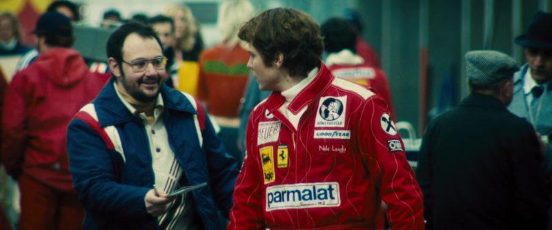 Heuer Chronograph, Agip, Ferrari, Parmalat, Römerquelle, Goodyear in Rush (2013) - Movie Product Placement