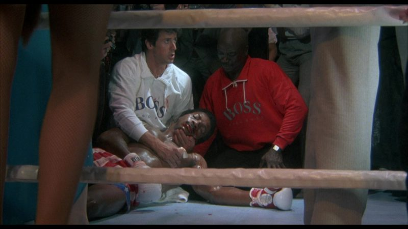 Hugo Boss Men's Sweatshirts in Rocky 4 (1985) Movie Product Placement