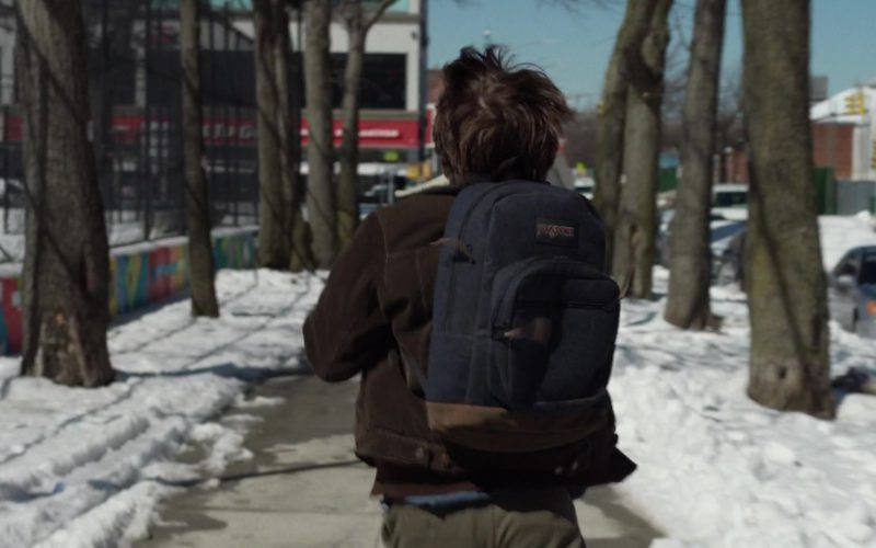 Jansport Blue Backpack Used by Brendan Meyer in All These Small Moments (1)